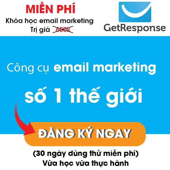 mien phi khoa hoc email marketing getrespone